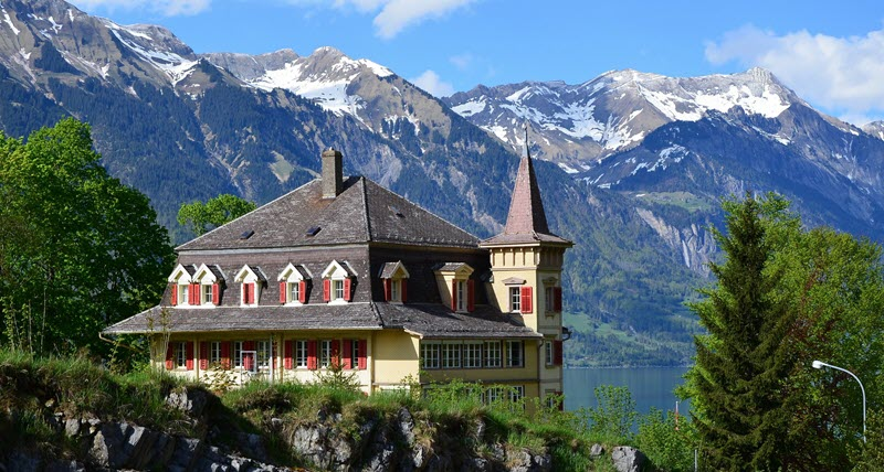 Swiss Alps house