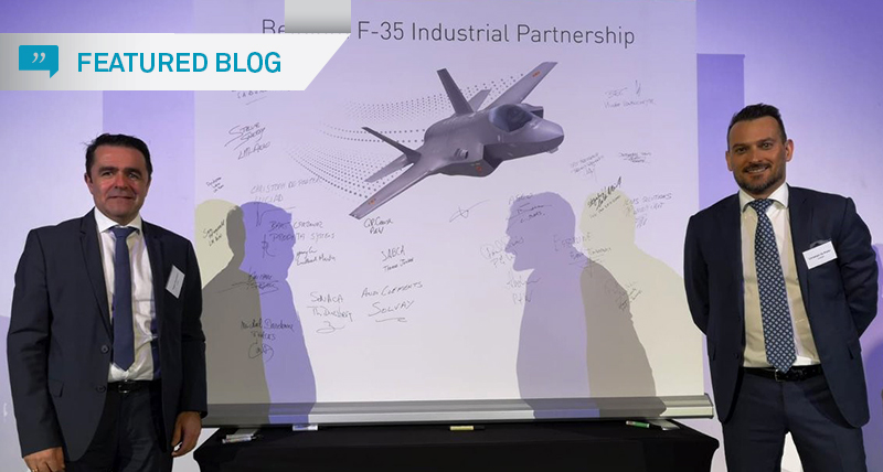 Hexagon participates in F-35 program meeting with Lockheed Martin and Belgian government.