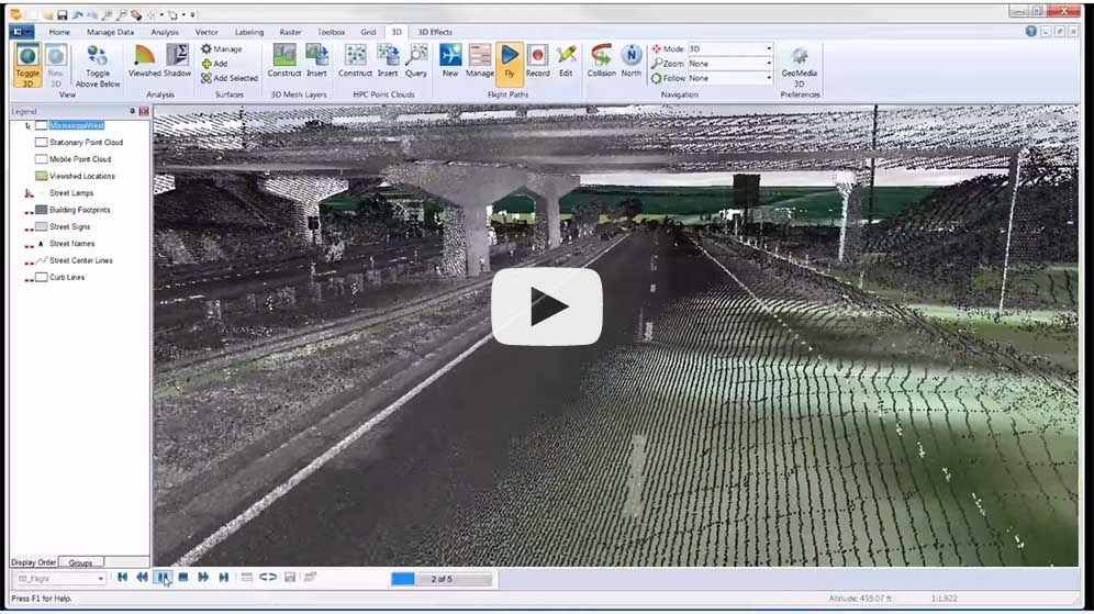 GeoMedia 3D Point Cloud Analysis