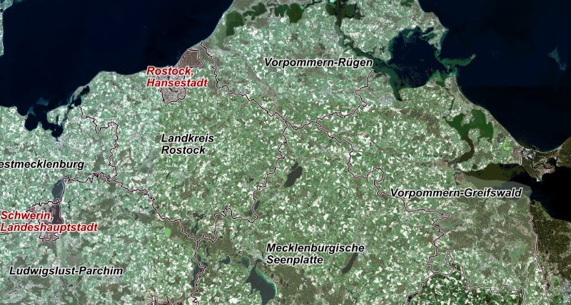 north Germany coast Sentinel satellite