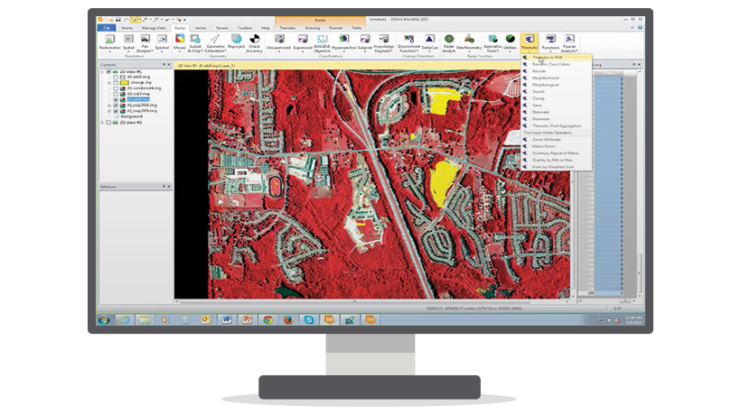 ERDAS IMAGINE is the world's leading geospatial data authoring system