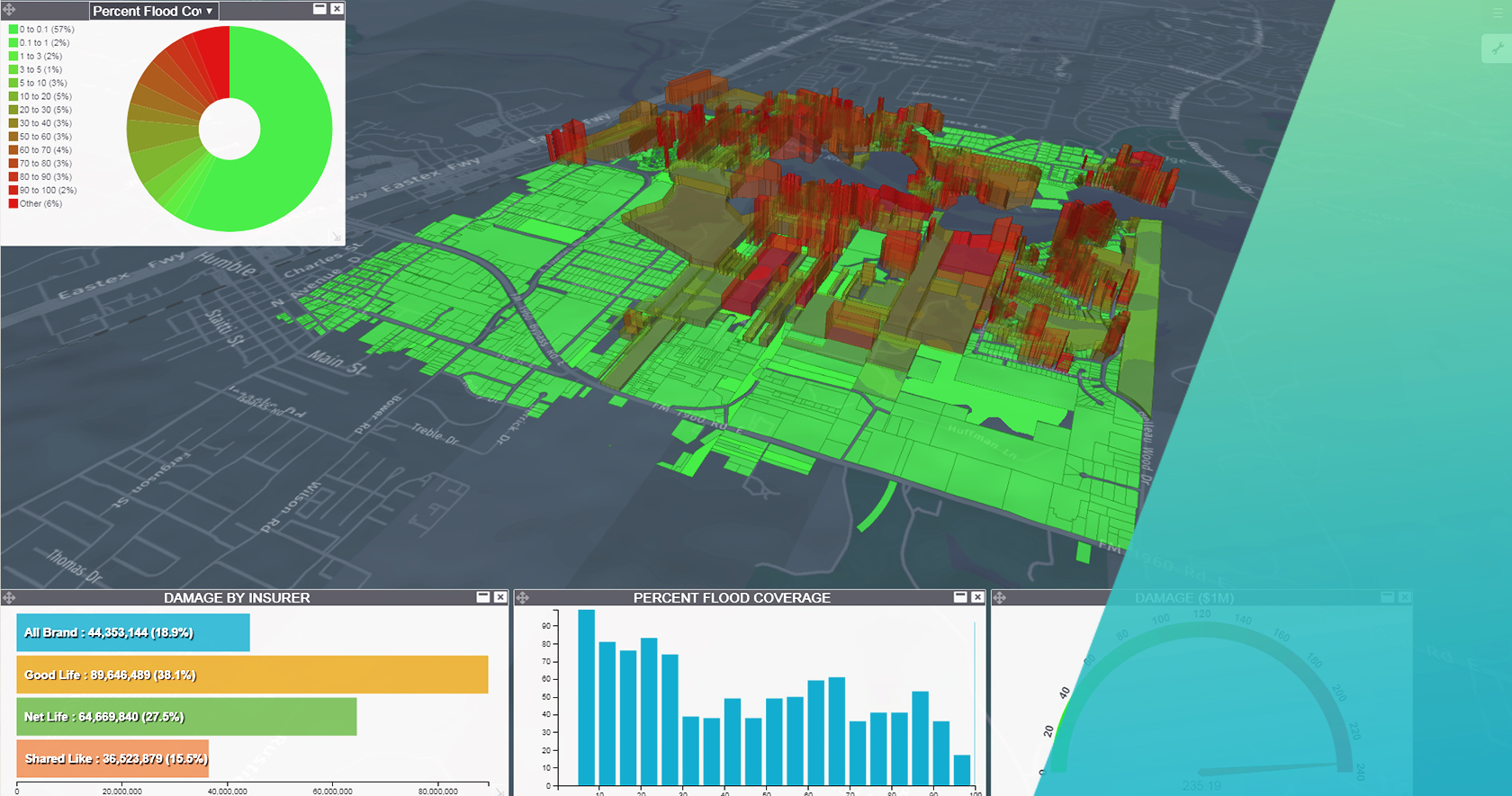 Hexagon Geospatial flood damage app